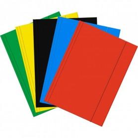 3 X Chemises Pochettes Cartonnées Elastiques Range Documents Dossiers A4