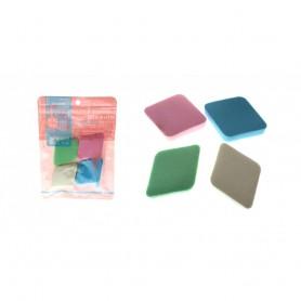 4 Eponges Démaquillantes en Cellulose Naturelle Nettoyage Fond Teint Maquillage