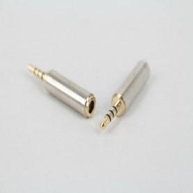 Prise Adaptateur Fiche JACK mâle 2.5mm To femelle 3.5mm Audio Casque Stéréo