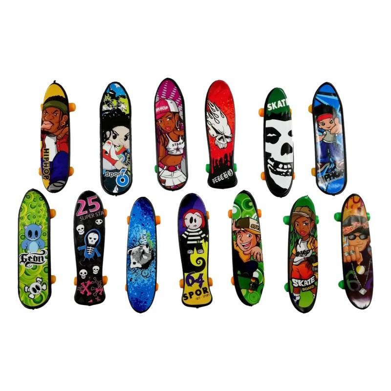 Lot de 5X Mini Finger Skate Jeu à Doigt 9cm Skateboard Jouet Enfant 3A+