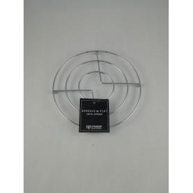 Dessous de plat en métal chromé diamètre 18 cm