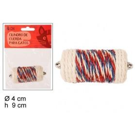 Jouet Cylindre Griffoir Sisal Corde à Chat 8 x 4 cm pour Jouer et Faire ses Griffes