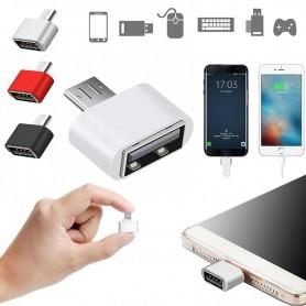 Convertisseur Adaptateur Micro USB Mâle vers USB Femelle OTG téléphone