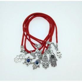 Lot de 5X Bracelets Kabbale + Pendentif Porte Bonheur Cabbale Judaica